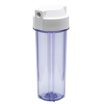 Корпус фильтра для воды Kaplya (Капля) CW 14-01, Системный, 10-ти дюймовый, до 45° С, до 6 атм., одно уплотнительное кольцо