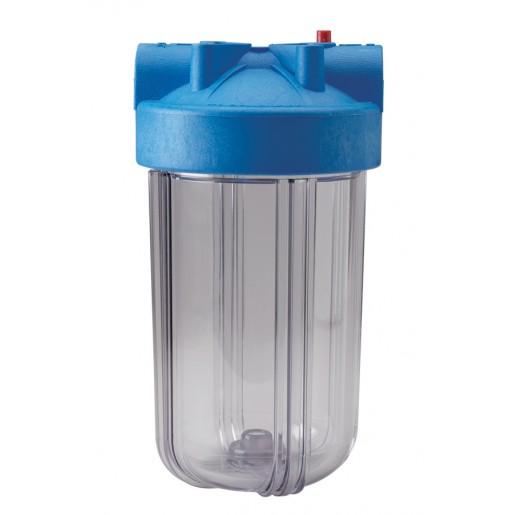"""Фильтр для воды Pentek (Pentair) HFPP 1"""" Clear 10BB, магистральный корпус, колба 10 дюймов типа Big Blue, резьба 1 дюйм"""