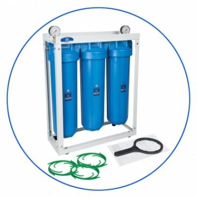Корпус фильтра для воды Aquafilter HHBB 20 B, Магистральный, 3 корпуса 20-ти дюймовые Віg Вlue