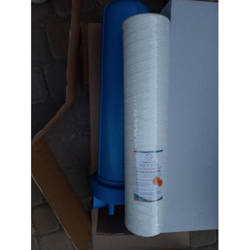Картридж комбинированный Aquilegia WP PP 2045 20/5 мкм, 20 дюймов тип Big Blue, полипропиленовый шнур, волокно