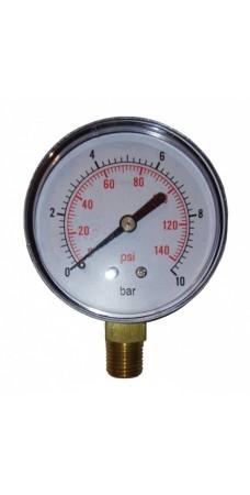 Манометр радиальный Pedrollo MR 10, контроллер давления, до 10 атм., 1/4″ дюйма радиальное соединение