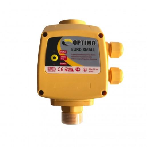 Реле давления Optima EURO SMALL старт 2,2, Электронный регулятор давления для однофазных насосов, защита от сухого хода, до 1,5 кВт, манометр