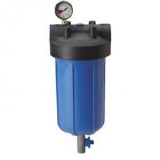 """Фильтр для воды Pentek (Pentair) PHB-410 1"""" Blue 10BB, магистральный корпус, колба 10 дюймов типа Big Blue, резьба 1 дюйм"""
