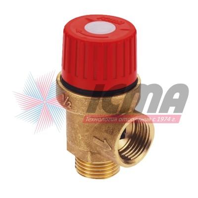 Предохранительный мембранный клапан Icma 242, PN 10, 6,0 бар, подключение 1/2″дюйма, резьба наружная-внутренняя