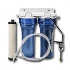 Фильтр для воды Filtop AT 2, Под мойку, #10, двухкорпусной, с картриджами, белый, до 37° С, до 4 атм., с отдельным краном