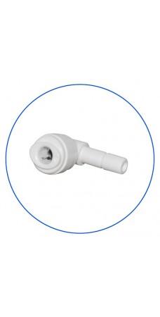 Фитинг угловой Aquafilter A4SE4 W, Коннектор для обратного осмоса, колено, уголок, 1/4″, пробка, цанга