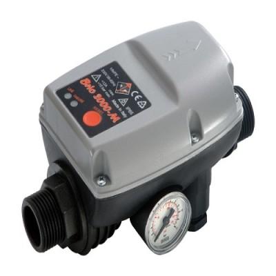 Реле давления Italtecnica BRIO 2000-MT с защитой от сухого хода для автоматических станций водоснабжения, автоматический перезапуск, манометр