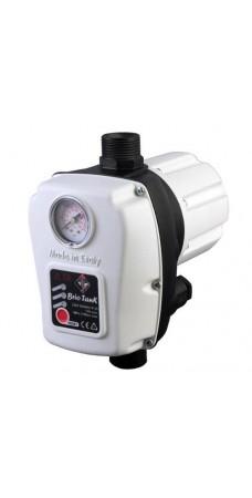 Реле давления Italtecnica BRIO TANK с защитой от сухого хода для автоматических станций водоснабжения, автоматический перезапуск, манометр, гидроаккумулятор