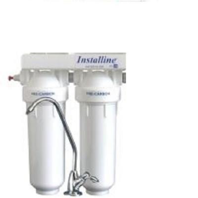 Фильтр для воды Installine IF 20 F, Под мойку, #10, двухкорпусной, с картриджами, белый, до 37° С, до 4 атм., с отдельным краном и ключом