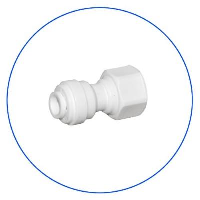 Фитинг Aquafilter A4FA12, коннектор, муфта, адаптер, трубный переходник, для обратного осмоса, прямой 1/4″, цанга 1/2″, резьба