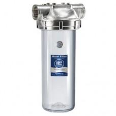 Корпус фильтра для горячей воды Aquafilter F10SS2PC, нержавеющая сталь, магистральный, 10-ти дюймовый, резьба 1 дюйм,