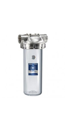 Фильтр для горячей воды Aquafilter F10SS2PC, Магистральный, корпус нержавеющая сталь колба 10 дюймов резьба 1 дюйм
