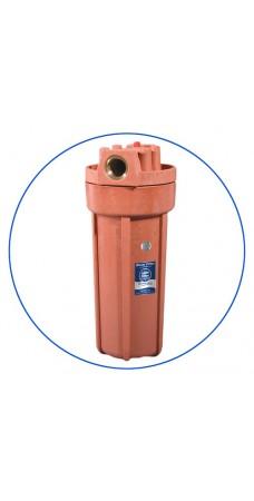 Корпус фильтра для горячей воды Aquafilter FHHOT 1, магистральный, 10-ти дюймовый,  резьба 3/4 дюйма