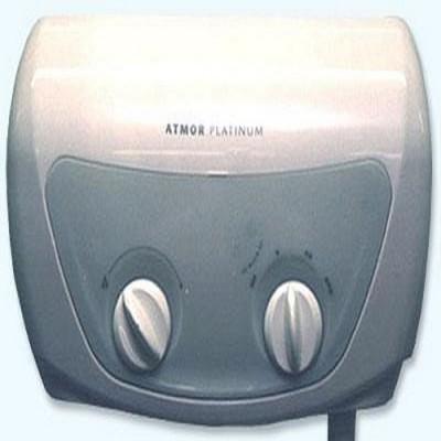 Водонагреватель проточный электрический Atmor Platinum Completa (7 кВт), 220 В, стабилизирующий клапан, душевая стойка
