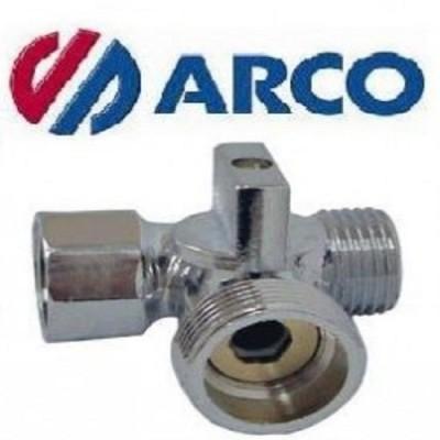 Кран шаровой ARCO 02335, (1/2″х3/4″х1/2″ ННВ), резьба наружная-наружная-внутренняя