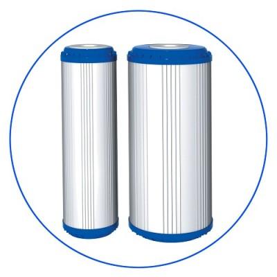 Картридж фильтра для воды Aquafilter FCCBKDF2 10BB, 10-ти дюймовый 10 Big Blue, гранул. кокос. актив. уголь, KDF 55
