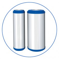 Картридж фильтра для воды Aquafilter FCCBKDF2, 10-ти дюймовый, гранул. кокос. актив. уголь, KDF 55, ионнообменная смола