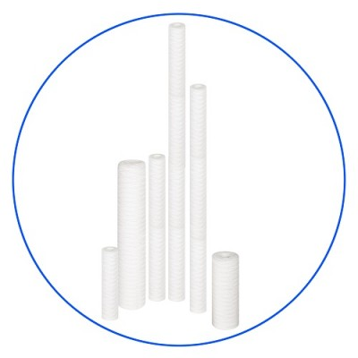 Картридж фильтра для воды Aquafilter FCPP 100, 10-ти дюймовый, 100 мкм, полипропиленовый шнур