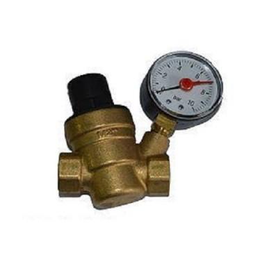 Редуктор давления ECO DX II 1/2 BB, Поршневой, манометр, резьба внутренняя - внутренняя, латунь до 90° С