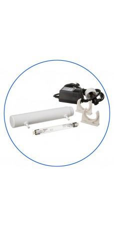 Ультрафиолетовая лампа Aquafilter FUV P4W, в корпусе с блоком питания для обратного осмоса, 1/4″