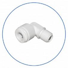 Фитинг угловой с обратным клапаном Aquafilter A4ME4 CV W, Коннектор, колено, для обратного осмоса, 1/4″, цанга, резьба