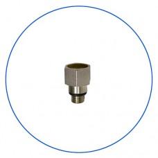 Переходник, адаптер для манометра Aquafilter KCGA 1 E2, Латунный для установки контроллера давления на корпус типа Big Blue