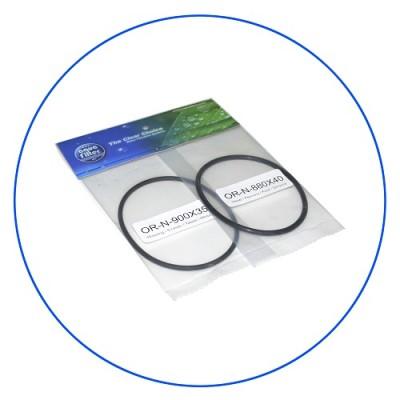 Комплект колец уплотнительных Aquafilter OR 3 D, размер 88 мм на 4 мм и 90 мм на 3,5 мм, прокладка для корпусов H10A, H10B, H10B-AB, H10C, H10D, H10K, H105