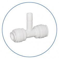 Фитинг тройник Aquafilter A4TR4 W, Коннектор для обратного осмоса, 2х1/4″ цанга, 1/4″ пробка