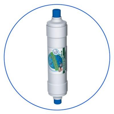 Постфильтр Aquafilter AICRO 4 QM для обратного осмоса, Картридж фильтра для воды, гранул. актив. уголь и засыпка KDF