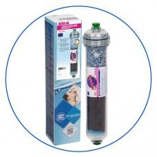 Постфильтр Aquafilter AICRO AB для обратного осмоса, картридж фильтра для воды, гранул. актив. уголь, антибактериальный