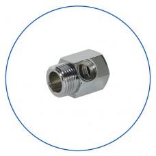 Адаптер Aquafilter FT 07, подключение 3/4 НР х 3/4 ВР х 1/4 ВР, фитинг, коннектор, переходник, хромированный латунный