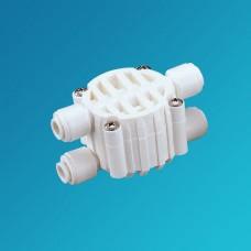 Клапан отсечной Organic CV 0201, Четырёх ходовой клапан для обратного осмоса, фильтра, 1/4 цанга