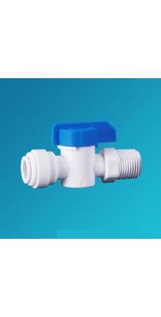 Кран шаровой прямой Organic CV 1444, вентиль для бака обратного осмоса, фильтра, 1/4 цанга – 1/4 наружная резьба