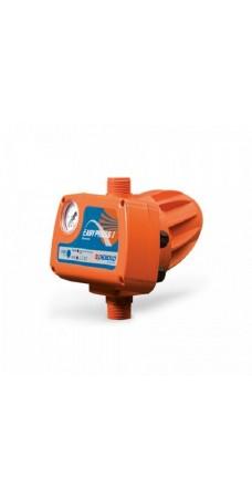 Реле давления Pedrollo EASY PRESS II G, электронный регулятор давления для однофазных насосов, защита от сухого хода, до 1,5 кВт, манометр, гидроаккумулятор
