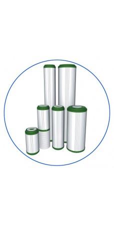 Картридж фильтра для воды Aquafilter FCCBKDF STO, 10-ти дюймовый, полипропилен, гранул. битум. актив. уголь, KDF 55