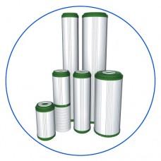Картридж фильтра для воды Aquafilter FCCBKDF 10BB, 10-ти дюймовый 10 Big Blue, гранул. битум. актив. уголь, KDF 55