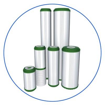 Картридж фильтра для воды Aquafilter FCCBKDF 20BB, 20-ти дюймовый 20 Big Blue, гранул. битум. актив. уголь, KDF 55
