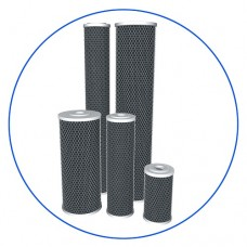 Картридж фильтра для воды Aquafilter FCCBL 20BB, 20-ти дюймовый 20 Big blue, брикетированный активированный уголь