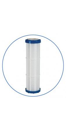 Картридж фильтра для воды Aquafilter FCPNN 100 M, 10-ти дюймовый, 100 мкм, полипропилен, нейлоновая сетка