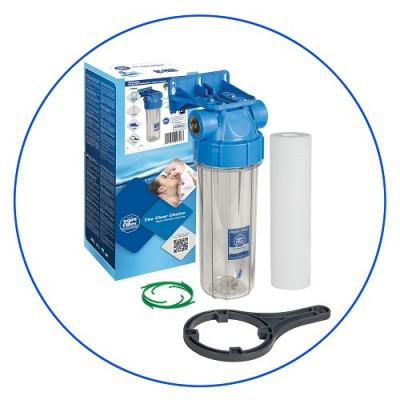 Корпус фильтра для воды Aquafilter FHPR 12 B1, Магистральный, 10-ти дюймовый, резьба 1/2 дюйма