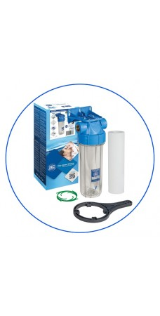 Фильтр для холодной воды Aquafilter FHPR 1 B1, Магистральный прозрачный корпус, колба 10 дюймов резьба 1 дюйм