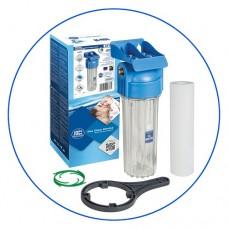 Корпус фильтра для воды Aquafilter FHPR 12 HP, Магистральный, 10-ти дюймовый, резьба 1/2 дюйма
