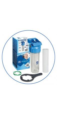 Фильтр для холодной воды Aquafilter FHPR 12 HP, Магистральный прозрачный корпус, колба 10 дюйм, резьба 1/2 дюйма