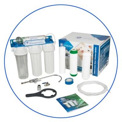 Фильтр для воды Aquafilter FP 3 HJ K1, под мойку, 4 ступени фильтрации, 10-ти дюймовые, с отдельным краном