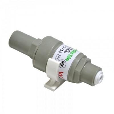 Редуктор давления Kaplya FPV 0104 70 для обратного осмоса, фильтра для воды, с обратным клапаном, 1/4 цанга, 4,8 атм. (70 psi), до 45° С