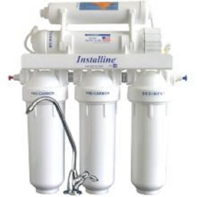 Фильтр для воды Installine IF 50 F, Под мойку, #10, трёхкорпусной, три картриджа+капиллярная мембрана+постфильтр, белый, до 37° С, до 4 атм., с отдельным краном и ключом
