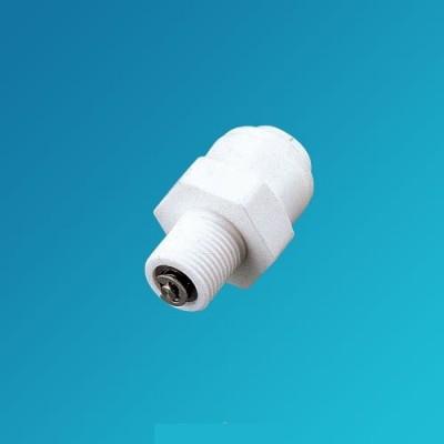 Фитинг прямой Organic CV 3242, коннектор (муфта) с обратным клапаном, 1/4 цанга – 1/8 наружная резьба