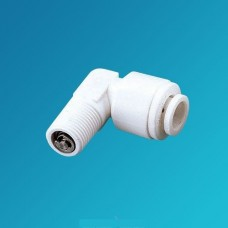 Фитинг угловой Organic CV 3042, коннектор колено (муфта) с обратным клапаном, 1/4 цанга – 1/8 наружная резьба