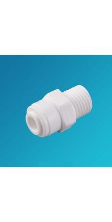 Фитинг прямой Organic MC 0406, коннектор (муфта) 1/4 цанга – 3/8 наружная резьба