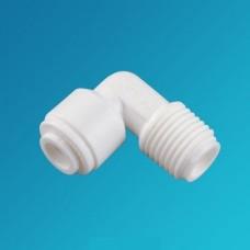 Фитинг угловой Organic ME 0406, коннектор колено 1/4 цанга – 3/8 наружная резьба